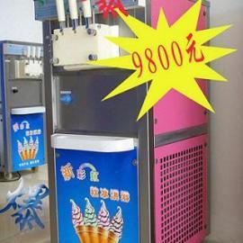 彩虹冰淇淋机 三色果酱冰淇淋机 冰激凌粉