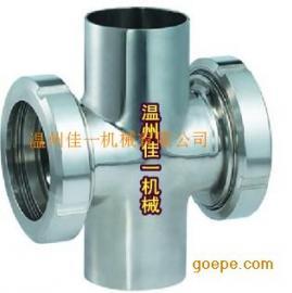 焊接四通式管道视镜 不锈钢直通视镜 不锈钢管道视镜