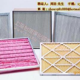 板式初效、折叠式中效、箱式高效空气过滤器