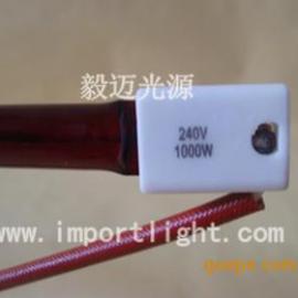 深红色红外线灯管,红色石英管,红宝石加热管