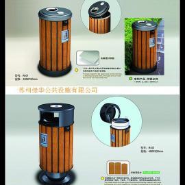 木条垃圾桶/防腐木垃圾桶/木结构垃圾桶
