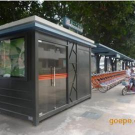公共自行车站亭订做厂家,广东便民自行车亭棚生产厂家,报价