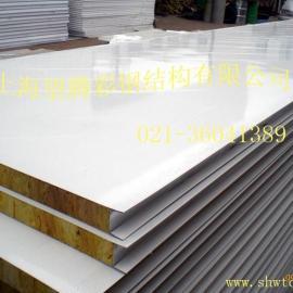 彩钢岩棉夹芯板|岩棉彩钢板夹芯板|彩钢岩棉板|彩钢岩棉板