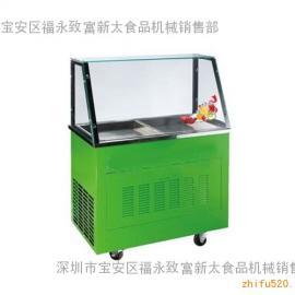 炒冰机|双锅炒冰机|带架子炒冰机|炒冰机价格