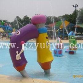 供应水上乐园设备、儿童戏水小品-铅笔喷水