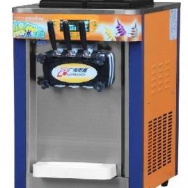 多功能冰淇淋机 雪糕机 三头冰激凌机 冰淇淋机
