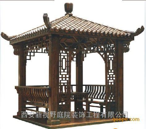 欧式柱子实木花架