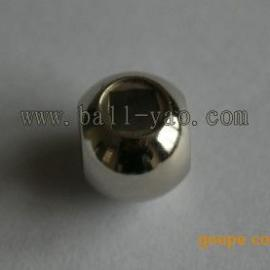 供应高精度美标三通正方形球体Φ13mm不锈钢304球芯