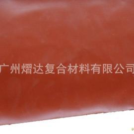 【长期供应】3.0厚夹钢丝红色 硅胶布 厂家直供 价格实惠