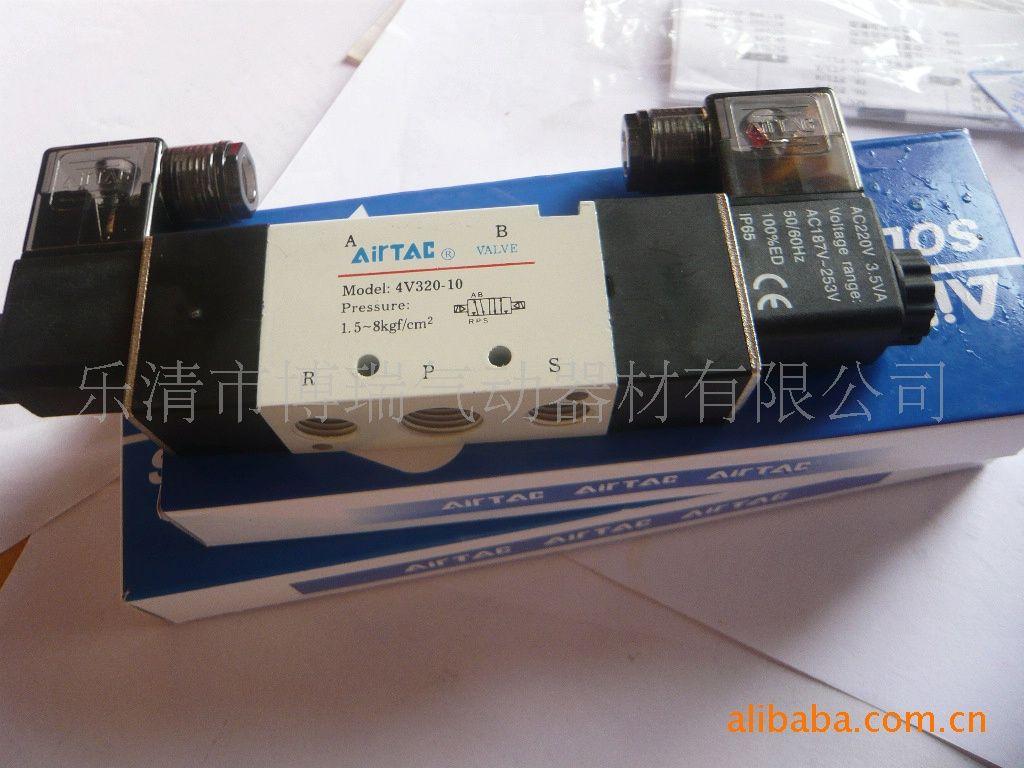 亚德客气动元件4v系列电磁阀双线圈4v320-10-二位五