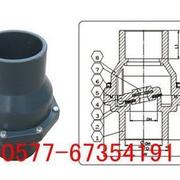 H61F塑料摇摆式焊接止回阀