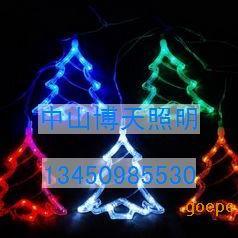 博天照明生产销售led圣诞节日五角星月亮圣诞树挂件