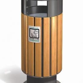 A-10美锐思钢木垃圾桶