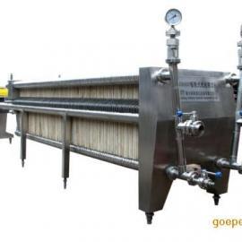 新航产不锈钢板框式纸板精滤机JZL10