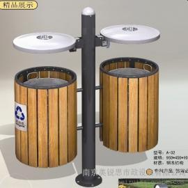 A-32美锐思钢木垃圾桶