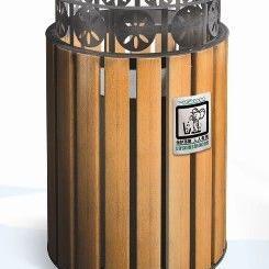 A-14美锐思钢木垃圾桶