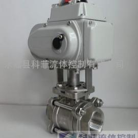 Q911F电动三片式球阀、电动丝扣球阀