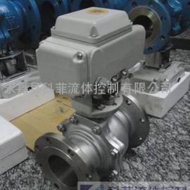 Q941F电动二片式不锈钢球阀、电动阀门