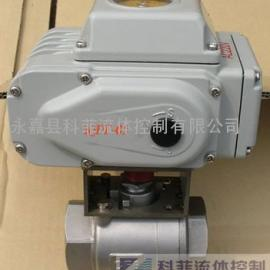Q911F电动不锈钢二片式丝扣球阀1000psi