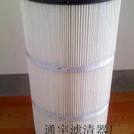 供应覆膜处理滤筒 覆膜除尘滤芯 覆膜除尘滤筒