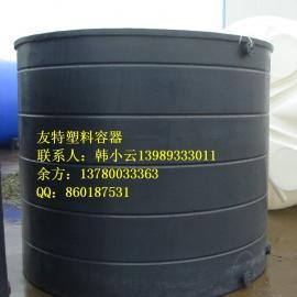 大型塑料染色缸/耐酸碱滚塑印染桶供应/宁波20立方印染桶