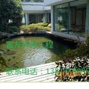 南京市庭院锦鲤池塘水处理、鱼池水净化过滤