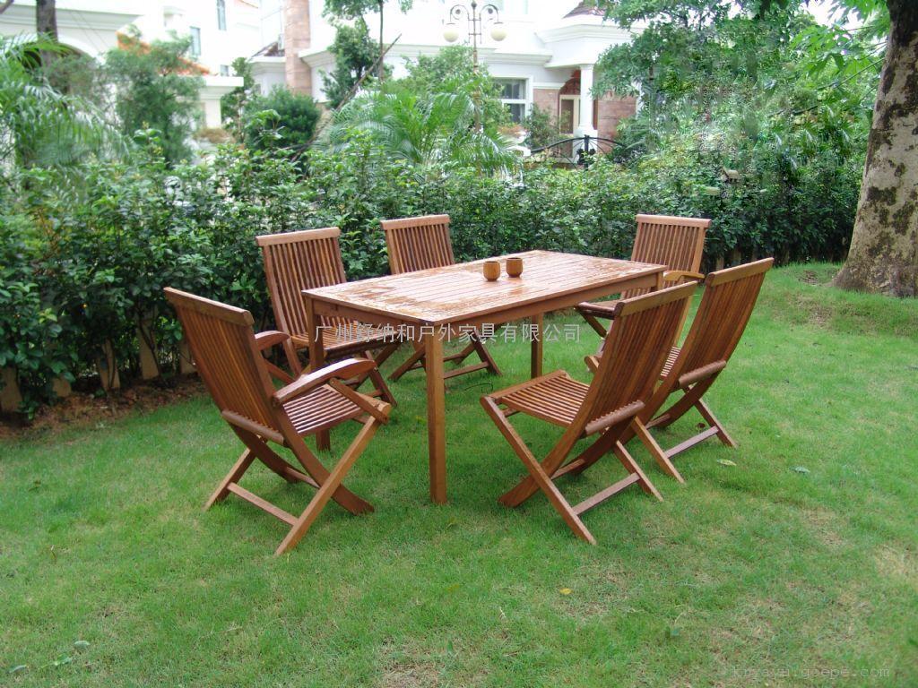 花园家具,实木花园家具,山樟木桌椅