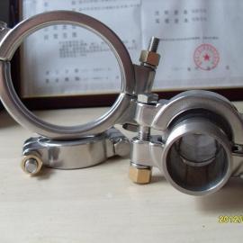 304不锈钢高压卡箍双螺栓两片式高压卡箍