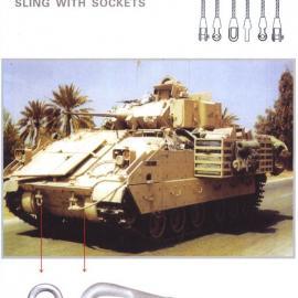 坦克车专业索具,钢丝绳浇铸索具,钢丝绳树脂胶水