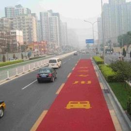彩色公交车道