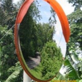 进口PC反光镜批发|道路反光镜安装价格|定外广角镜安装柱子