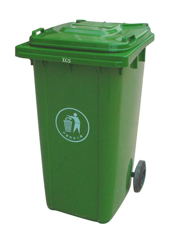 _240l军绿色两轮移动环保垃圾桶