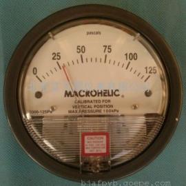 正负125PA微压差表生物安全柜专用