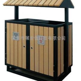 屋形木条废物桶(垃圾屋),动物园废物桶,环保废物桶,钢木废物桶