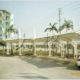 膜结构停车棚,膜结构车棚,车棚膜结构