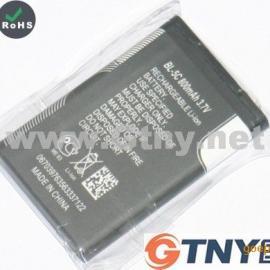 低价批发足容量800毫安插卡音响电池深圳诺基亚BL5C电池