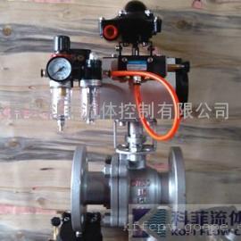 高温型金属硬密封气动球阀Q641H-16C