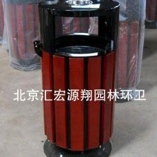 北京房山区钢木垃圾桶果皮箱
