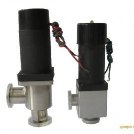 KF16电磁高真空挡板阀、气动高真空阀芯波纹管密封挡板阀