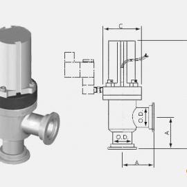 KF气动高真空挡板阀、电磁挡板阀、真空波纹管、焊接波纹管