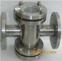 WCB碳钢法兰管道视镜 水流指示器 直通视镜