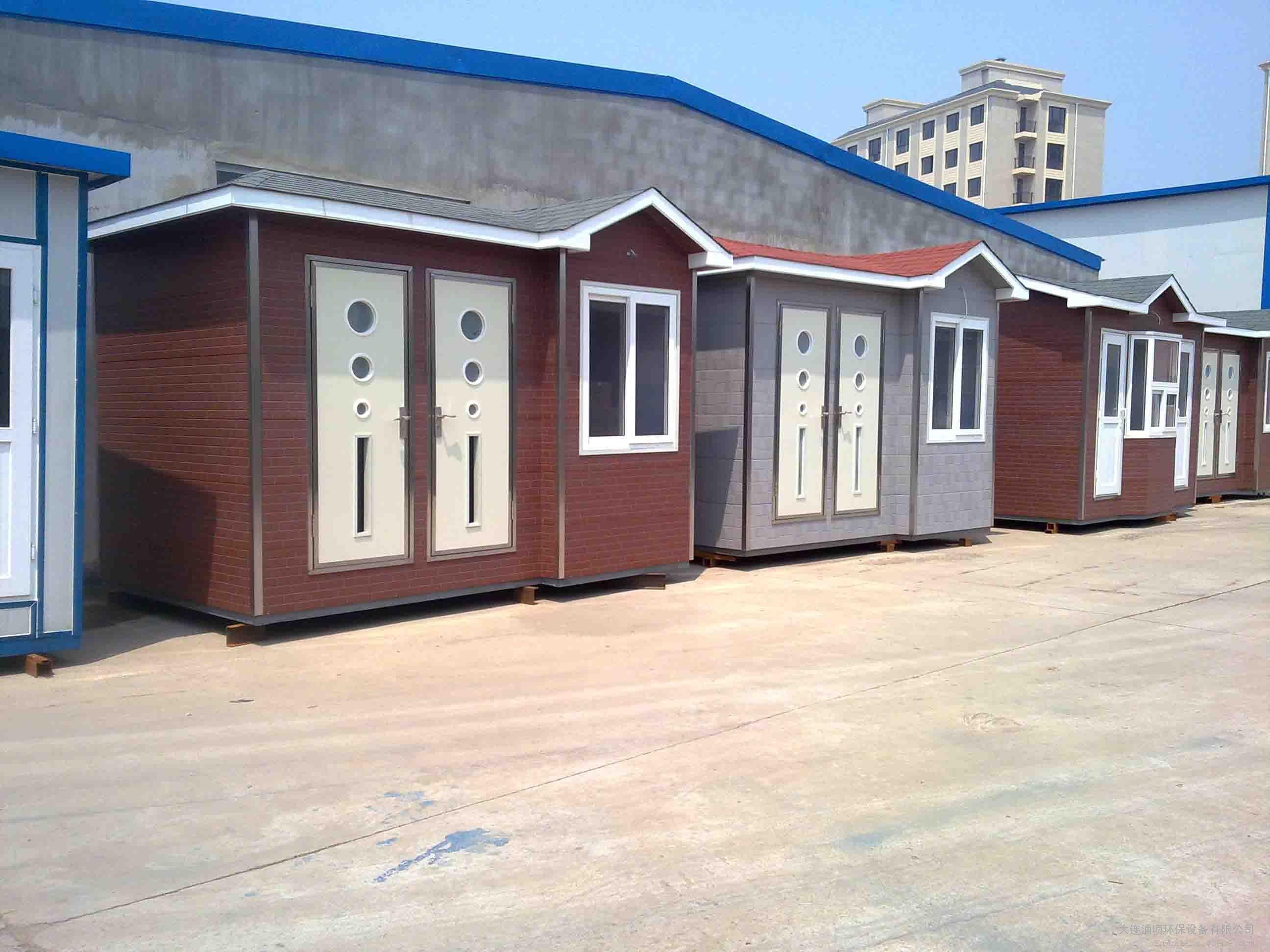 大连厕所厂家 移动厕所工地厕所出租图片 高清大图 谷瀑环保