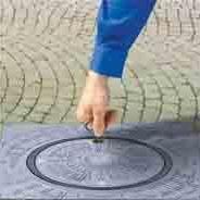 通八洲手动广场升降柱 各地小区路桩 步行街路障