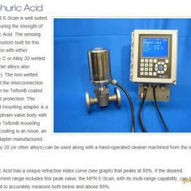 硫化氢(H2S)制酸工艺中硫酸浓度在线检测。