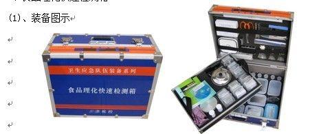 食品理化快速检测箱