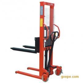 国产手动液压堆高车价格,手动液压搬运车报价,小型手动堆高车