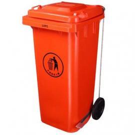 东莞120L脚踏垃圾桶 惠州塑胶果皮桶 LF-A008B