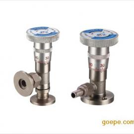 高真空微调阀 型号 结构 材质 压力 温度 密封 连接 口径 驱动