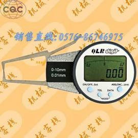 青量电子外卡规0-10mm 数显式带表卡规.卡钳