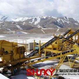 山启机械轮胎式移动破碎站设备一体化移动性更强